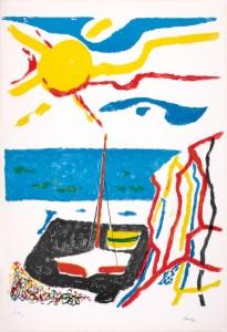 Enrico Paulucci - Grande sole e roccia (1955)