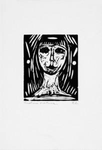 Felice Casorati - Volto di ragazza (anni '10)