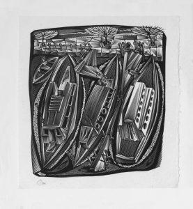 Tranquillo Marangoni - Case sul canale a Rotterdam (1955)