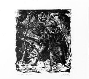 Gianluigi Uboldi - San Francesco e la Letizia (1953)