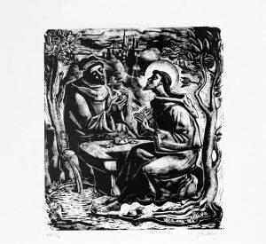 Gianluigi Uboldi - Mistica agape, San Francesco e frate Masseo (1953)